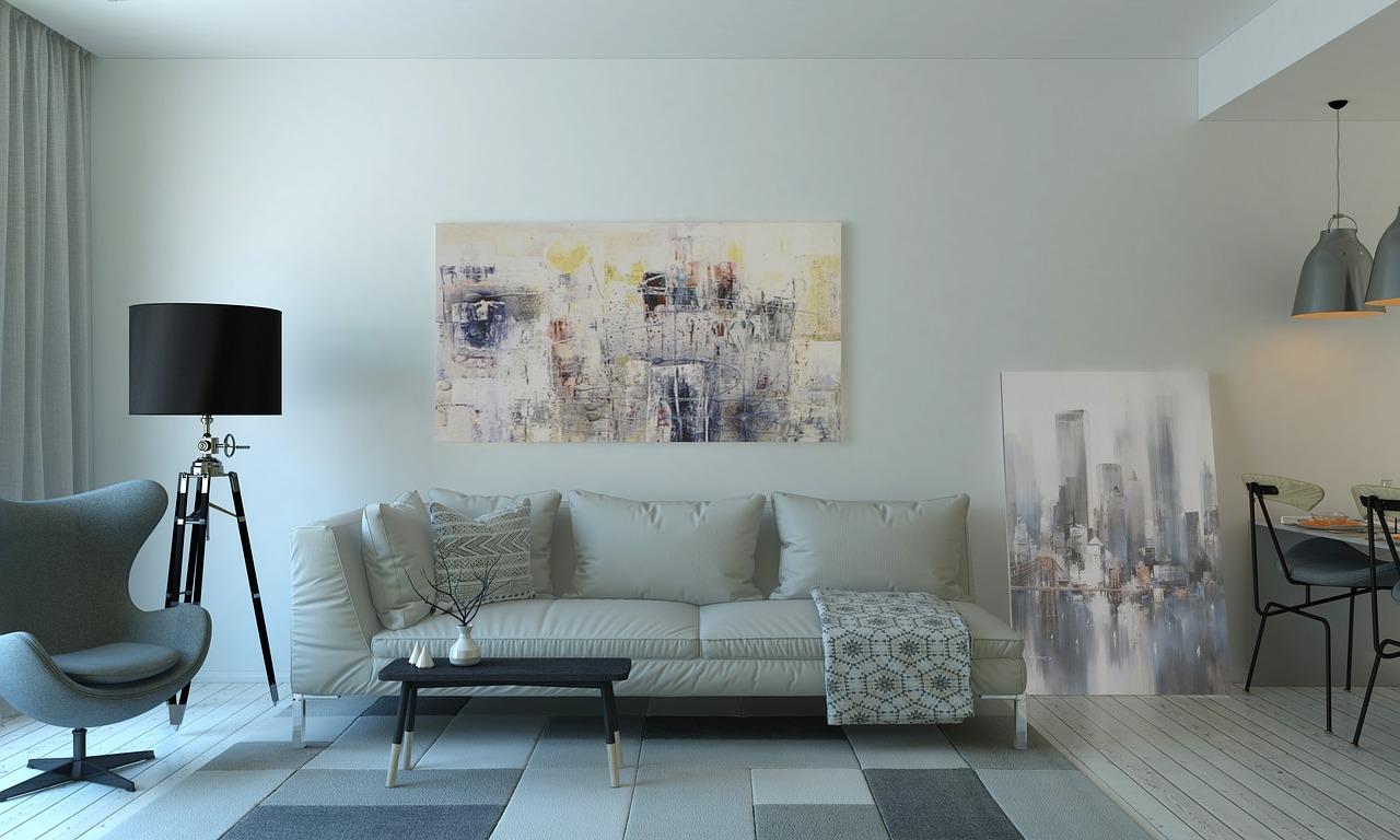 תמונה של סלון ספה ושטי בסלון קטן